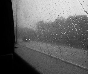 rain, pluviophile, and black and white image