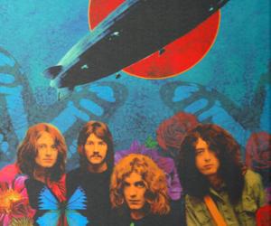 led zeppelin, jimmy page, and john bonham image