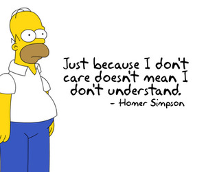 care, homer simpson, and understand image