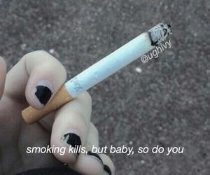 grunge, cigarette, and sad image