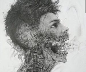 boy, art, and smoke image
