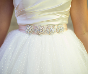 ball gown, bridal gown, and tulle image