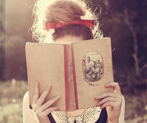 book, girl, and read image