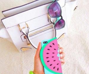 bag, fashion, and watermelon image