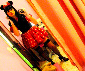 minnie, polka dot, and red image