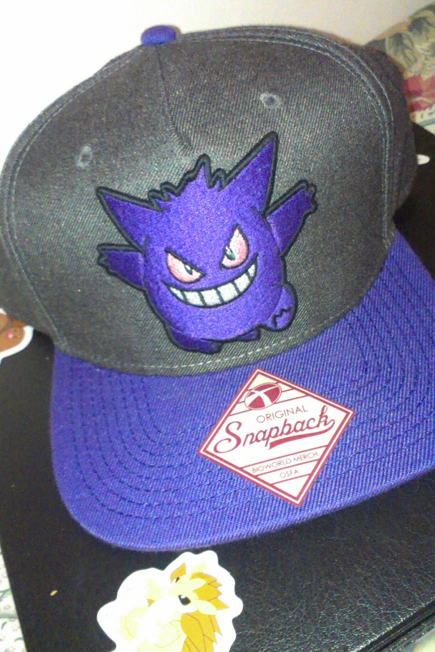 Gengar snapback hat. discovered by Autty Tabor 45dbb0f3af2