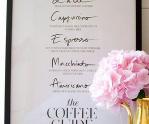 art, pink, and coffee image