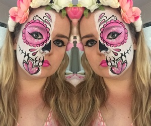 day of the dead, grunge, and Halloween image