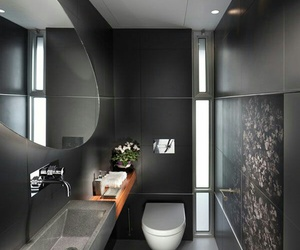 bathroom, black, and house image