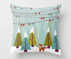 bed, christmas, and fox image