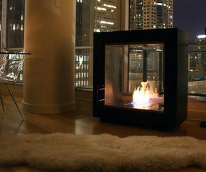 fireplace, luxury, and city image