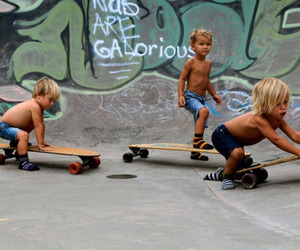 boy, kids, and skate image