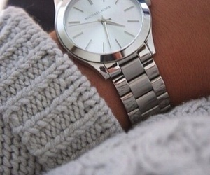 watch, fashion, and silver image