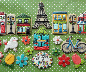 paris, Cookies, and eiffel tower image