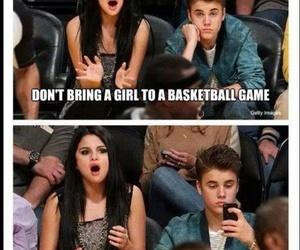 Basketball, funny, and selena gomez image