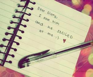 love, diary, and smile image