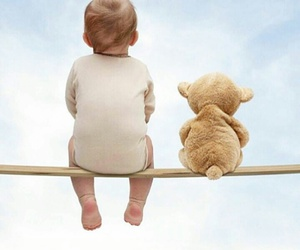 baby, funny, and teddy image