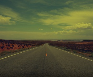 road, sky, and vintage image