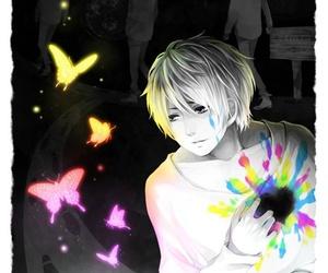 anime, anime boy monochrome, and anime boy image