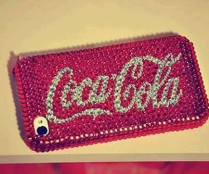 coca cola, iphone, and red image