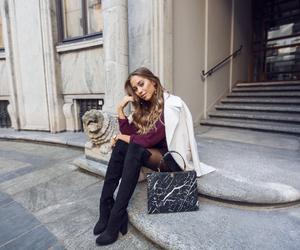 Balenciaga, brunette, and girl image