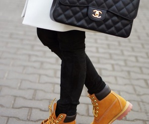 timberland, chanel, and style image