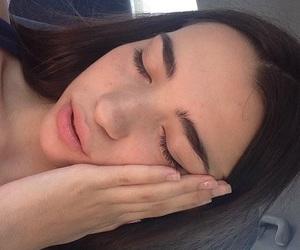 girl, grunge, and eyebrows image