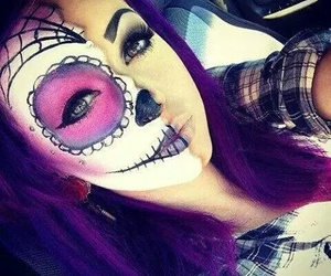 girl, Halloween, and make up image