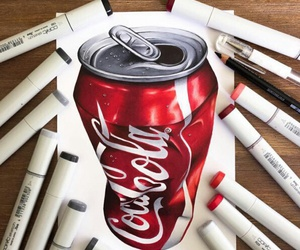 art, coca cola, and drawing image