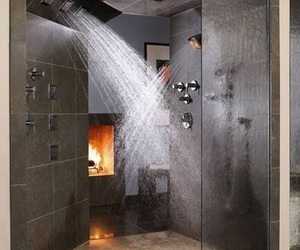 shower, bathroom, and house image