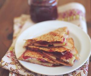 food, jam, and pancakes image