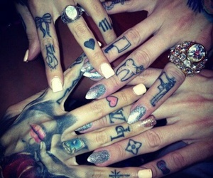 tattoo, nails, and hands image