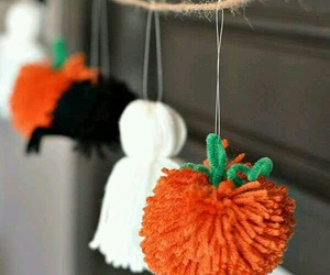 diy, Halloween, and pompoms image