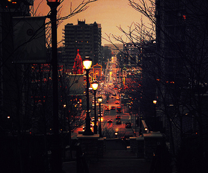 city, light, and christmas image
