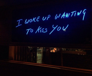 kiss, quotes, and blue image