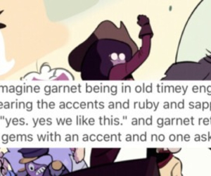 funny, ruby, and steven universe image