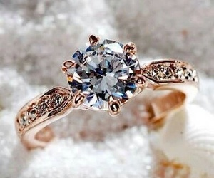 ring, diamond, and blue image