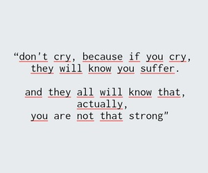 cry, girl, and quote image