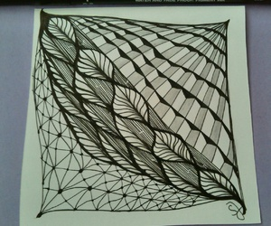 drawing, pattern, and fineliner image