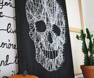 diy, skull, and black image