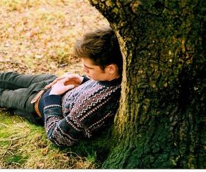 boy, tree, and guy image