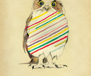 owl, hello, and art image