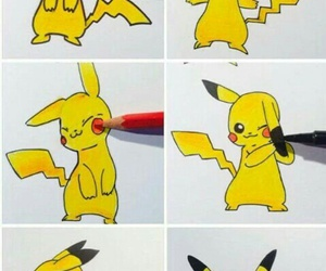 pokemon, pikachu, and art image