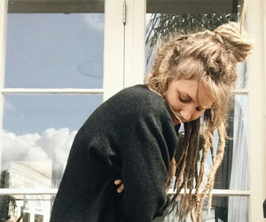 blonde, dreads, and hair image