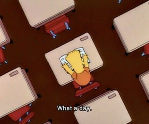 bart, school, and simpsons image