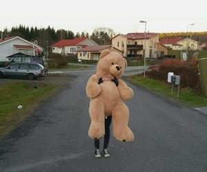 girl, soft, and teddy image