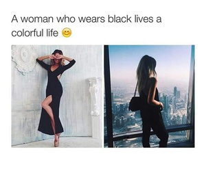 black, colorful, and woman image