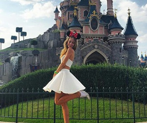 castle, dress, and disney image