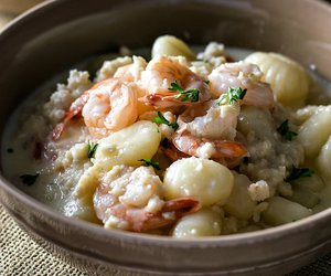 crab, gnocchi, and seafood image