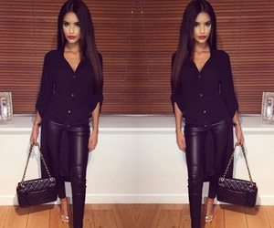 beautiful, black hair, and outfit image